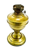 Antique brass kerosene lamp — Stock Photo