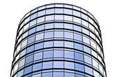 Edifício de escritório moderno feito de vidro e aço — Foto Stock