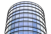 现代办公大楼的玻璃和钢制 — 图库照片