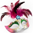Carnival mask with feathers and diamond — Stock Photo