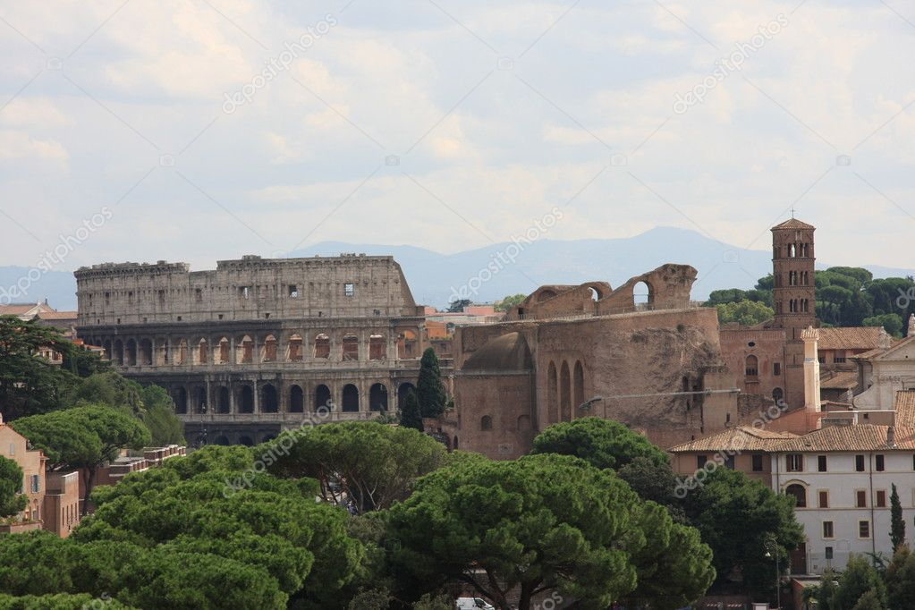 Panorama du centre antique de Rome — Stock Photo #4529394