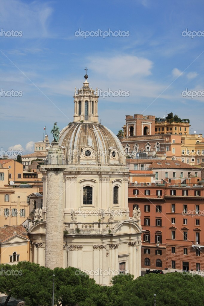 Coupole/dôme à Rome — Stock Photo #4529396