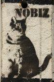 Nobiz grafite — Fotografia Stock