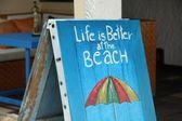Leven is beter op het strand — Stockfoto