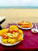 Meal by the beach — Stock Photo