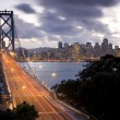 Bay Bridge to San Francisco — 图库照片