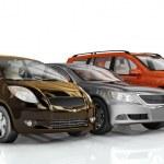 Prezentacja samochodów — Zdjęcie stockowe