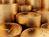 Close-up golden coins — Stock Photo