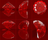 Ruby set — Stock Photo
