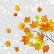 Royalty-Free Stock Vektorgrafik: Abstract autumn background