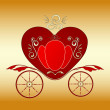 Stock Vector: Valentine royal carriage