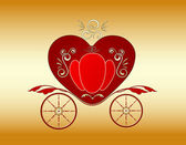 Valentine royal carriage — Stock Vector