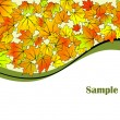 Abstract autumn background — Imagen vectorial