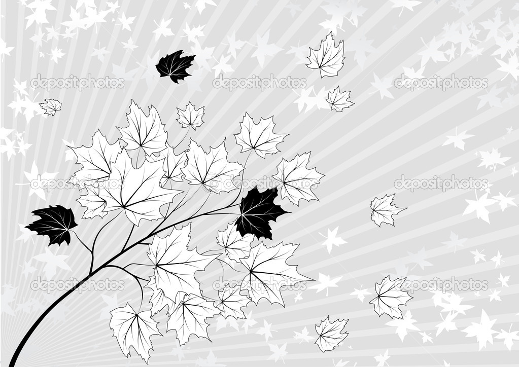 Abstract autumn background for your design, vector illustration  — Stock Vector #4644437