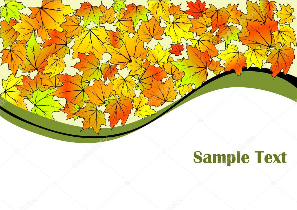 Abstract autumn background for your design, vector illustration  — Stock Vector #4644450
