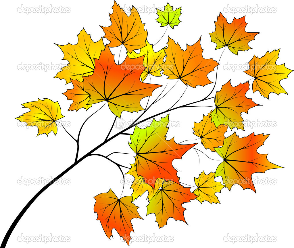 Abstract autumn background for your design, vector illustration  — Stock Vector #4644470