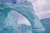 Iceberg arch — Stock Photo