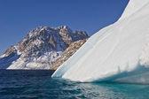 Iceberg and mountain — Stock Photo