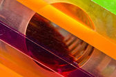 Rainbow plexiglas — Stock Photo