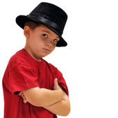 Boy with hat — Stock Photo