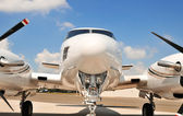 Front end of twin engine plane. — Stock Photo
