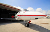 Corporate Jet in for maintenance — Stock Photo