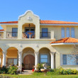 Spanish-mediterranean style waterfront home - Stock Photo