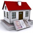 Home bundles of pound sterling — Stockfoto