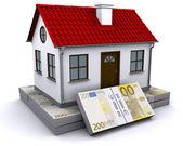 Inicio paquetes de euros — Foto de Stock