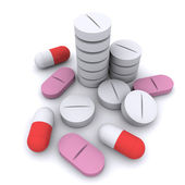 Group of different tablets — Stock Photo