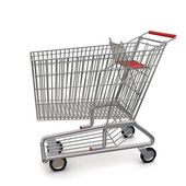 Trolley from the supermarket — Stock Photo