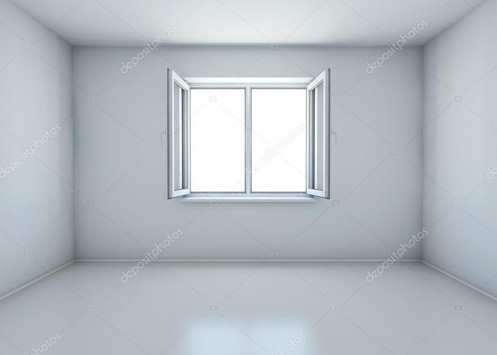 Habitaci n con la ventana abierta sin muebles render 3d foto de stock cherezoff 5322684 - Habitacion sin muebles ...