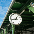 Antique Station Clock — Stock Photo
