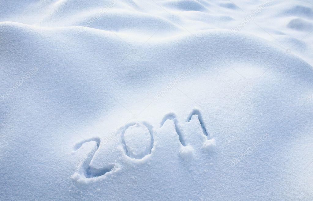 Year 2011 written in Snow — Stock Photo #4528502