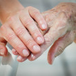 Young and old hand — Stock Photo #4548496