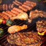 Steak on BBQ — Stock Photo
