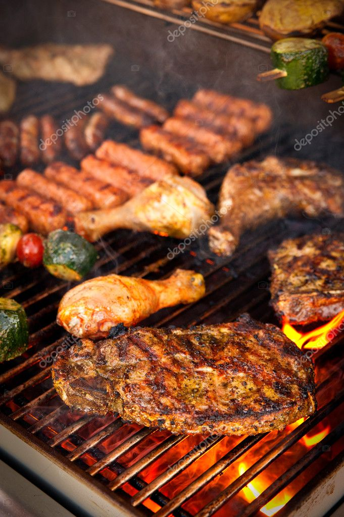 Steak on BBQ — Stock Photo © tepic #4548670