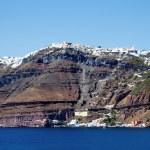 Coastline of Santorini — Stock Photo