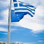 Greek and EU Flags — Stock Photo #4559116