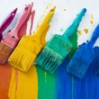 Brushes with different colors — Stock Photo #4559520