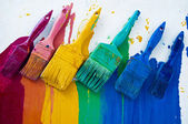 Brushes with different colors — Stock Photo