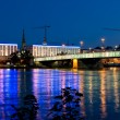 Bridge over Danube River — Stock Photo
