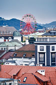 Over the Roofs of Linz — Stock Photo