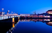 Danube River in the Blue Hour — Stock Photo