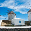 Windmills of Mykonos — Stock Photo