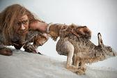 Stoneage caçador — Foto Stock