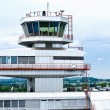 Airport Tower of Linz - Stockfoto