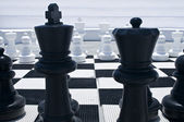 Outdoor Chessboard — Stock Photo