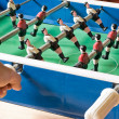 Playing Tabletop Soccer — Stock Photo