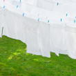 White Washes on the line — Stock Photo